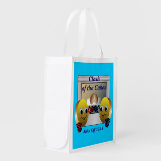 Cake Baking Contest Reusable Grocery Bag