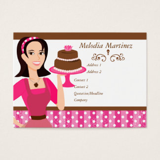 Cake Beauty with Rose Business Card