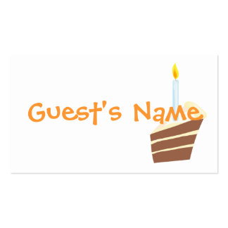 Cake Birthday Party Placeholder Card