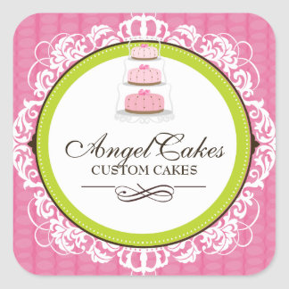 Cake Box Packaging Stickers