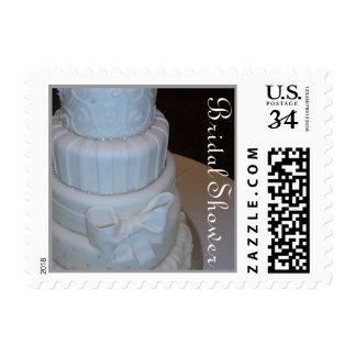 Cake Bridal Shower postage stamp
