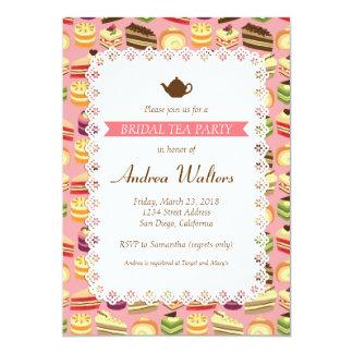 Cake Buffet (Pink) Bridal Shower Tea Party Card