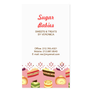 Cake Buffet (Pink) Lace Border Business Card