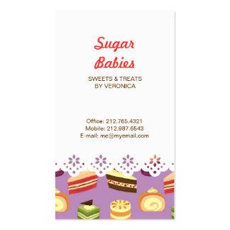 Cake Buffet (Purple) Lace Border Business Card