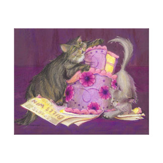 Cake Cats Collection Canvas Print