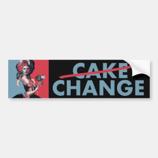 Cake/Change:  Marie Antoinette & Barack Obama Car Bumper Sticker