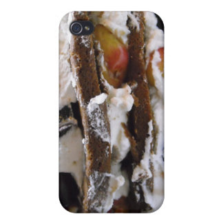 Cake, Cherries & Whipped Cream Photo  Case For iPhone 4