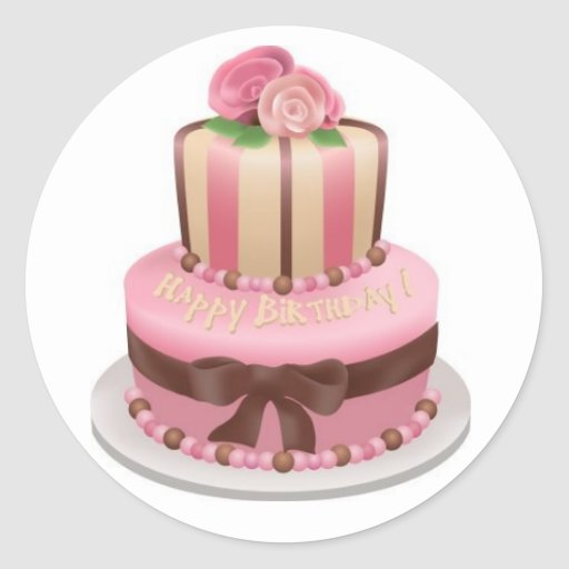 cake_clip_art classic round sticker