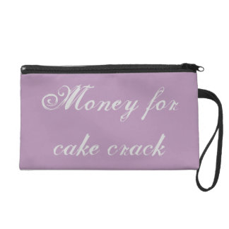 cake crack money holder wristlet