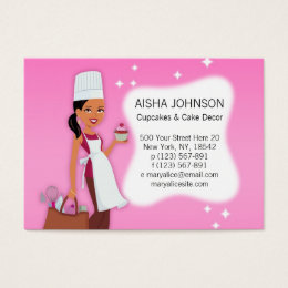 Cake Decor Baker Cupcake Business Card