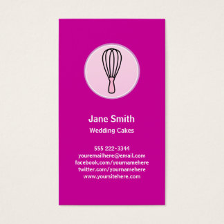 Cake Decor Bakery Chef Business Card