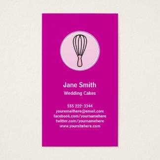 Cake Decor Bakery Chef Business Card