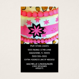Cake Decorating Business Card