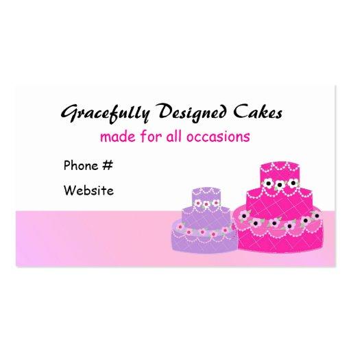 Cake Decorating Company Notts : Cake Decorating Company Business Card Template Zazzle