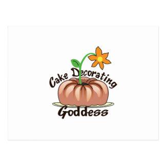 CAKE DECORATING GODDESS POSTCARD