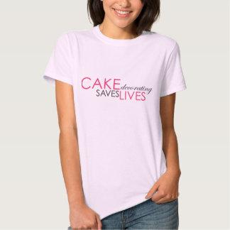 Cake decorating saves lives- pink tee shirt