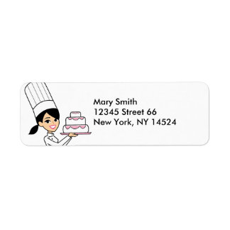 Cake Decorator Baker Chef Return Address Label