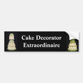 Cake Decorator Bumper Sticker