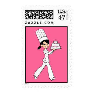 Cake Decorator Kids Party Organizer Postage Stamp