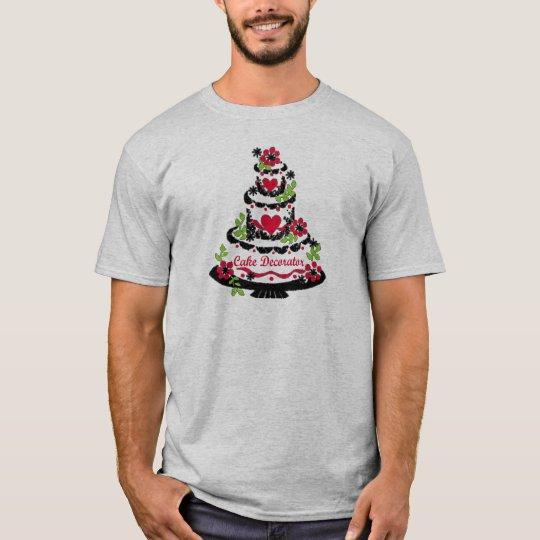 Cake Decorator on Pretty Tiered Cake T-Shirt