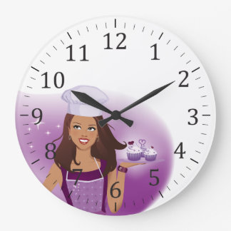 Cake Decorator Party Planner Wall Clock