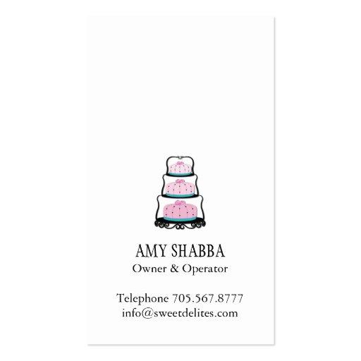 Cake Designer Business Card (back side)