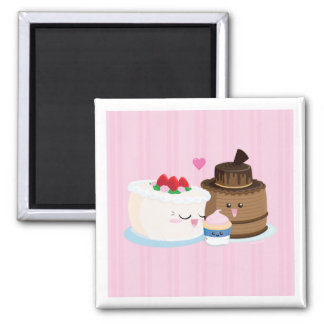 Cake Family 2 Inch Square Magnet