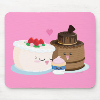 Cake Family Mouse Pad