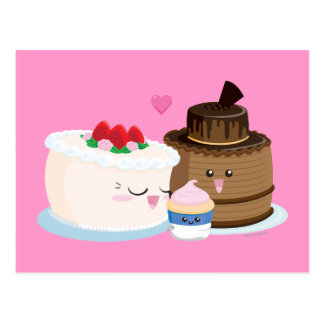 Cake Family Postcard