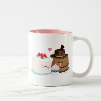 Cake Family Two-Tone Coffee Mug