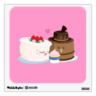 Cake Family Wall Sticker