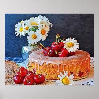 Cake,Flowers,Cherry