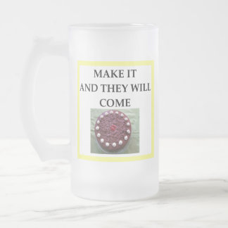 CAKE FROSTED GLASS BEER MUG
