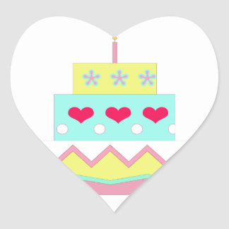 Cake! Heart Sticker