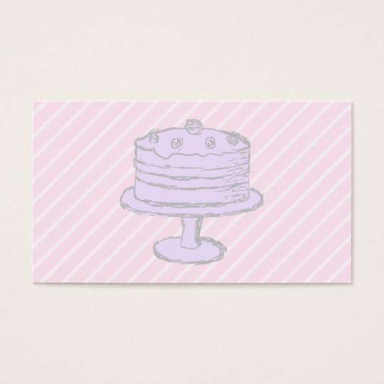 Cake in Light Purple on Pink. Business Card
