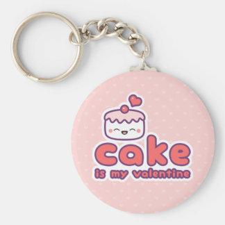 Cake is my Valentine Keychain