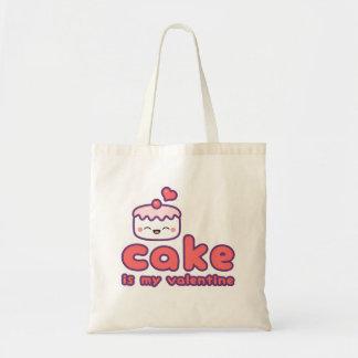 Cake is my Valentine Tote Bag