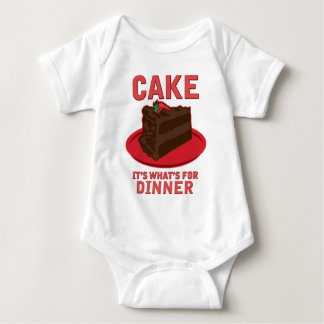 Cake, It's What's For DInner Baby Bodysuit