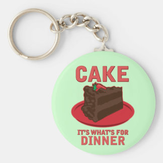 Cake, It's What's For DInner Basic Round Button Keychain