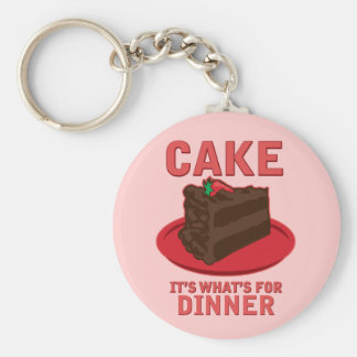 Cake, It's What's For DInner Keychain