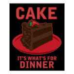 Cake, It's What's For DInner Poster