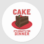 Cake, It's What's For DInner Sticker