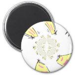 Cake Kaleidoscope Magnets