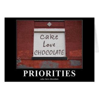 Cake Love Chocolate Graffiti Motivational card