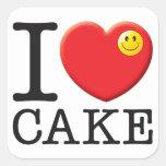 Cake Love Square Sticker