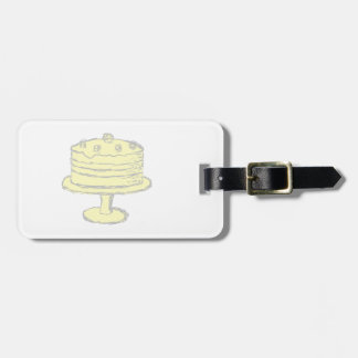 Cake. Tag For Luggage