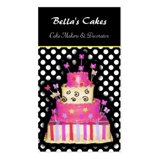 Cake makers business Cards