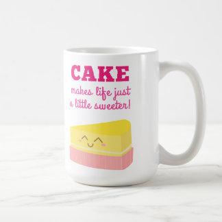 Cake makes life just a little sweeter coffee mug