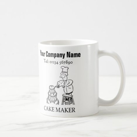 Cake Making Services Cartoon Mug