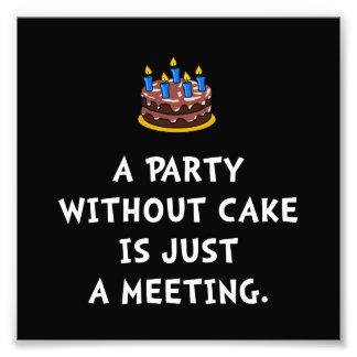 Cake Meeting Photo Print